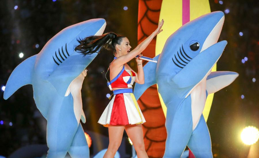 Singer Katy Perry performs during the Pepsi Super Bowl XLIV Half Time Show on February 1, 2015 at the University of Phoenix Stadium in Glendale, Ariz. (Anthony Behar/SIPA USA/TNS)