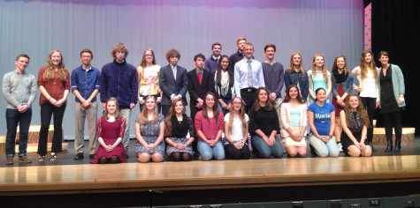 Poetry Out Loud contestants pose for a group photo following the competition.