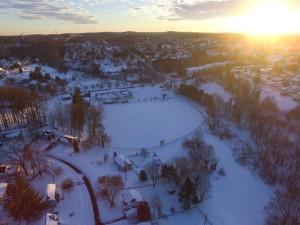 An aerial view of the American Legion baseball field. 1/25/2016