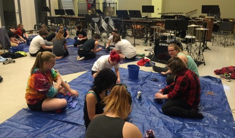 Indoor color guard team conquers first competition jitters