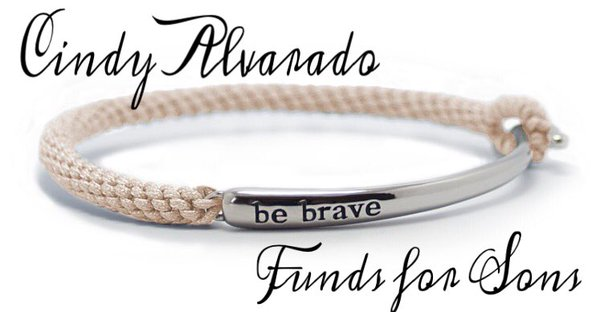 Lung Cancer/Disease Awareness Bracelet-Original Rope Bracelet in Pearl White from the Cindy Alvarado's Funds for Sons page on the Bravelets jewelry website.