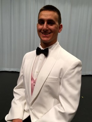 Ross poses in his tux.