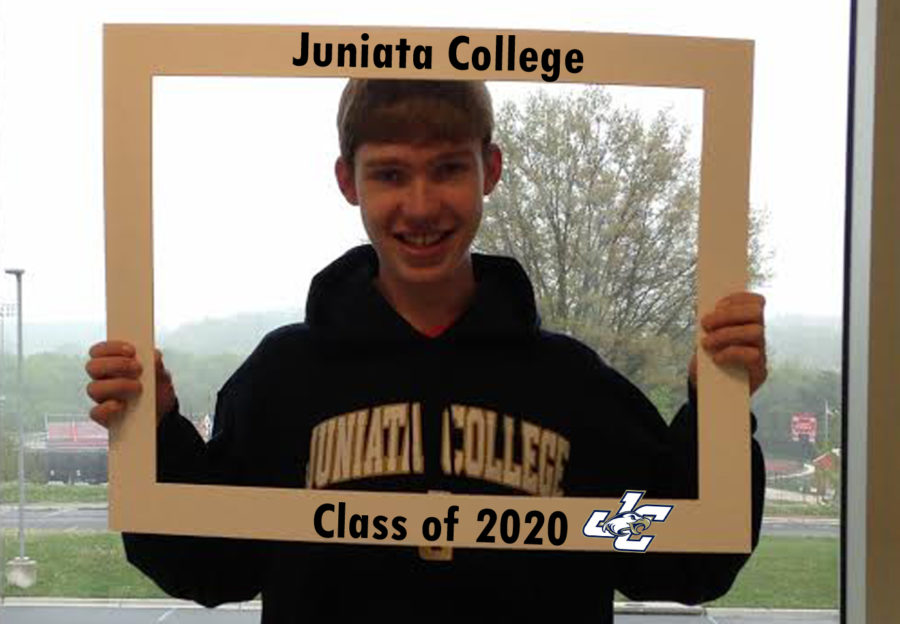 Senior Brian Peterson smiles for Juniata College.
