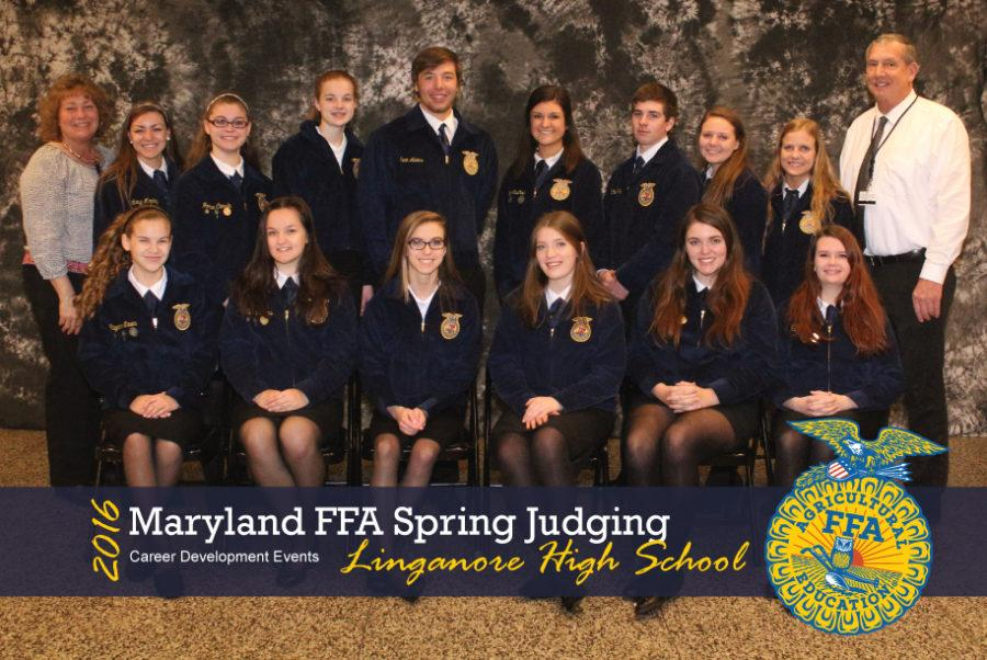 Three Linganore Teams participated in the Maryland FFA Spring Competition on April 2, 2016.