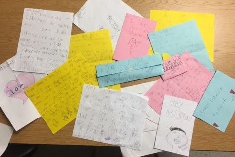 NEHS receives letters from first grade: Photo of the Day 4/1/16
