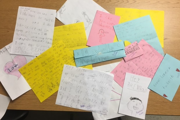 First+graders+from+Centerville+Elementary+wrote+letters+to+the+NEHS.+