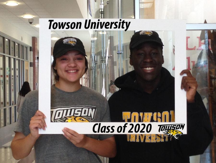 Karly and Kwabena (Kobe) are headed to Towson!