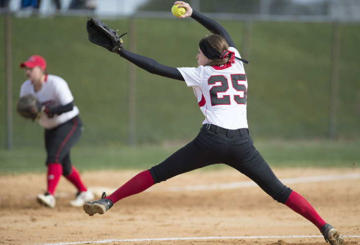 Kayleigh Day leads the Lancers from the mound in another victory over Urbana 7-2.