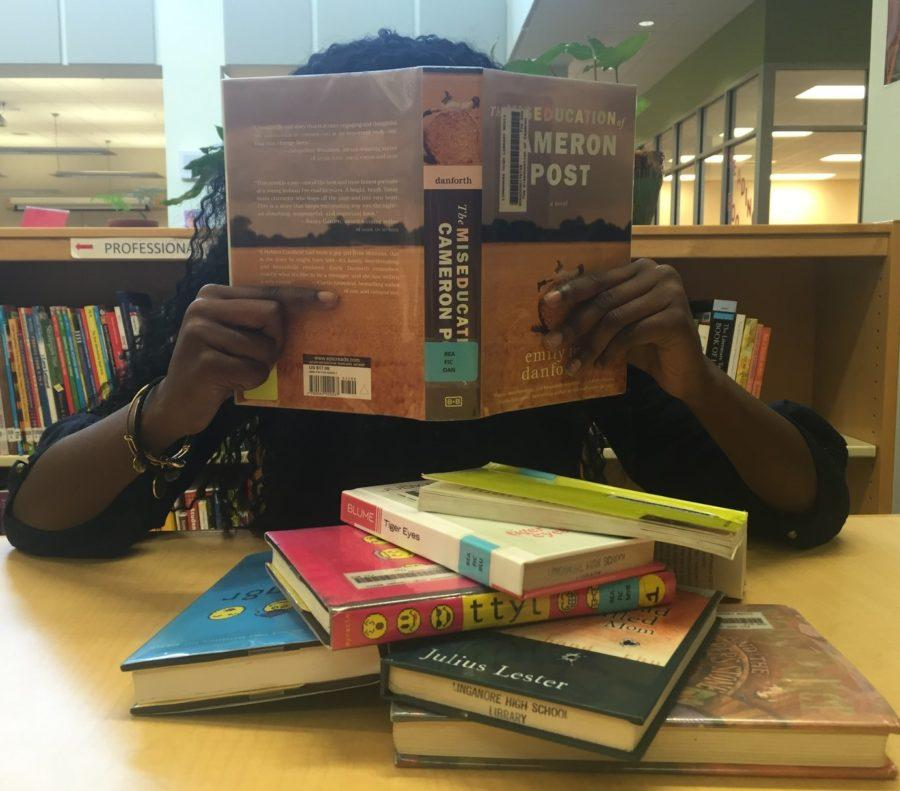 Avery Apau enjoys her freedom to read banned books.