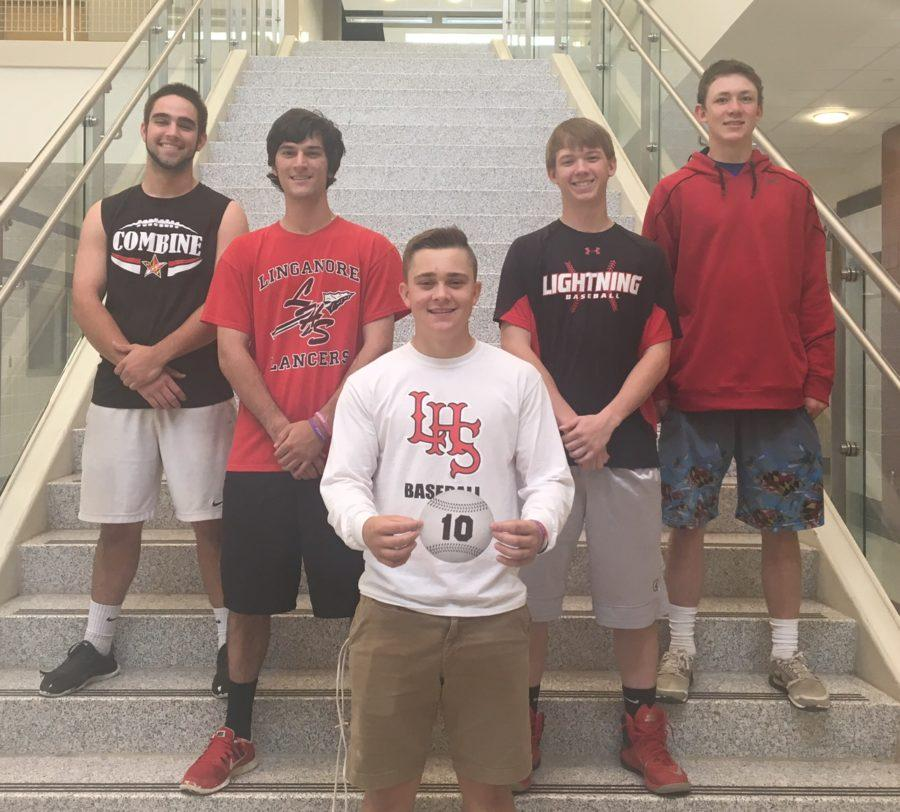 (Left) Jimmy Pazzanese, Nick Delavalle, Joey Jenkins(middle), Charlie Ronan, and John Kirk(right)