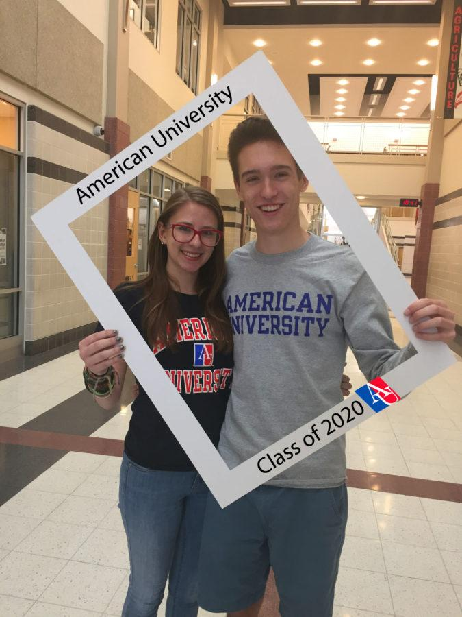 LHSsees2020: JD Ensor and Madeline Wodaski pledge allegiance to American University