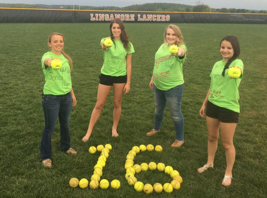 Softball seniors are excited that there is only 16 days left of school.