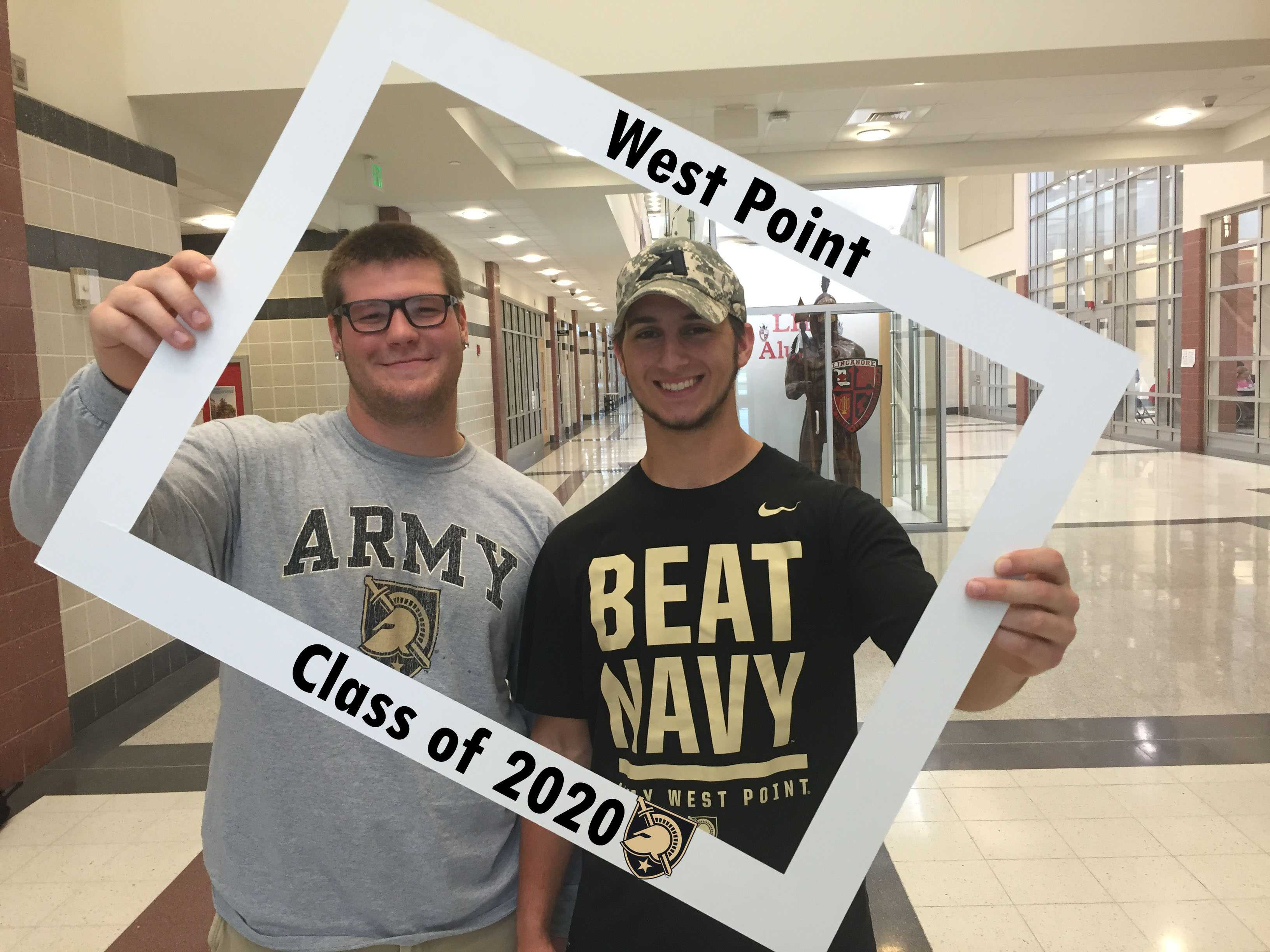 Dan Ross and Tyler Fleagle march up to  West Point
