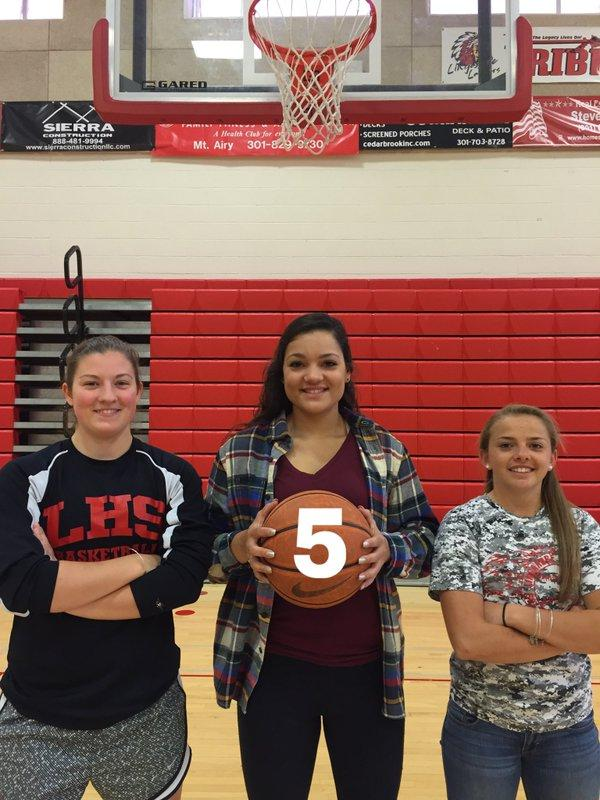 (From left to right) Seniors Sarah Roerty, Karly Johnson, and Tanner Ridgely