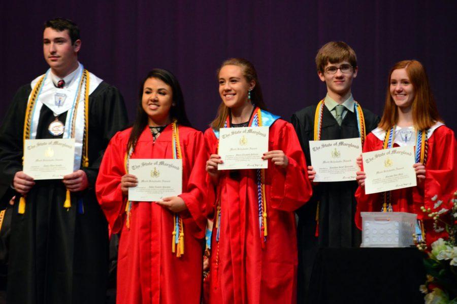 Seniors+recognized+the+Merit+Scholar+program.