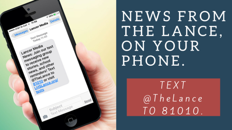 Sign up to receive text messages or subscribe to The Lance