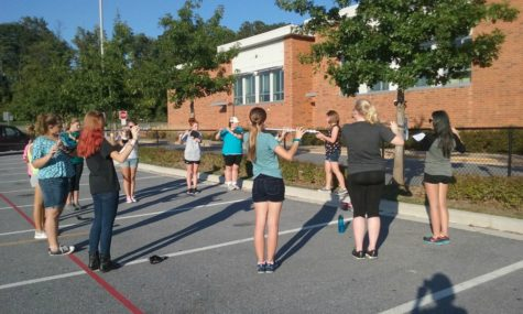 Marching Band prepares for Tour of Terror: Photo of the Day 9/6/16