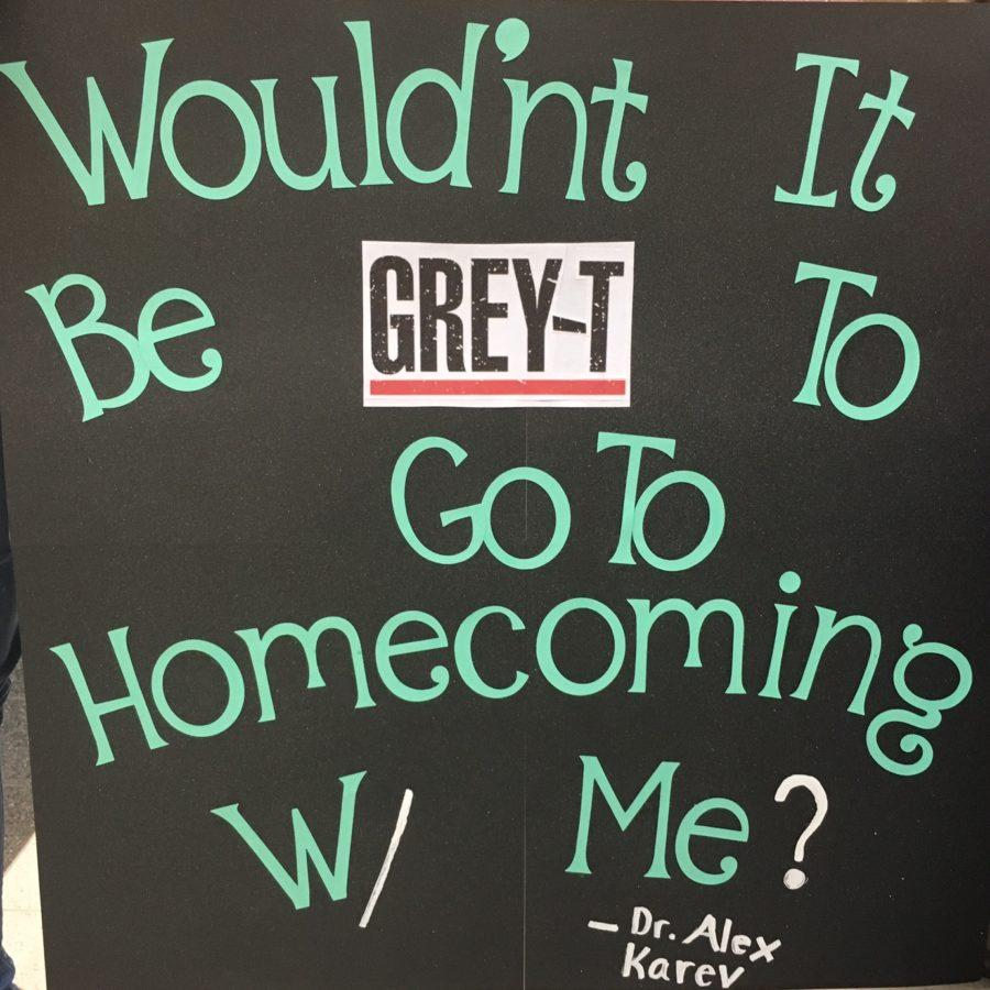 Olivia Merritt is asked to the dance by Colby Bannon with a Grey's Anatomy themed poster.