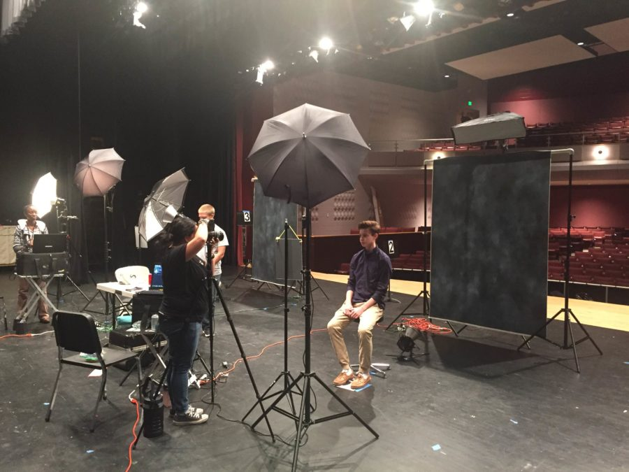 Jacob Bolger gets his photo taken by Victor O'Neill studios