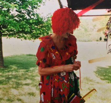 Mrs. Natalie Rebetsky in her clown suit.