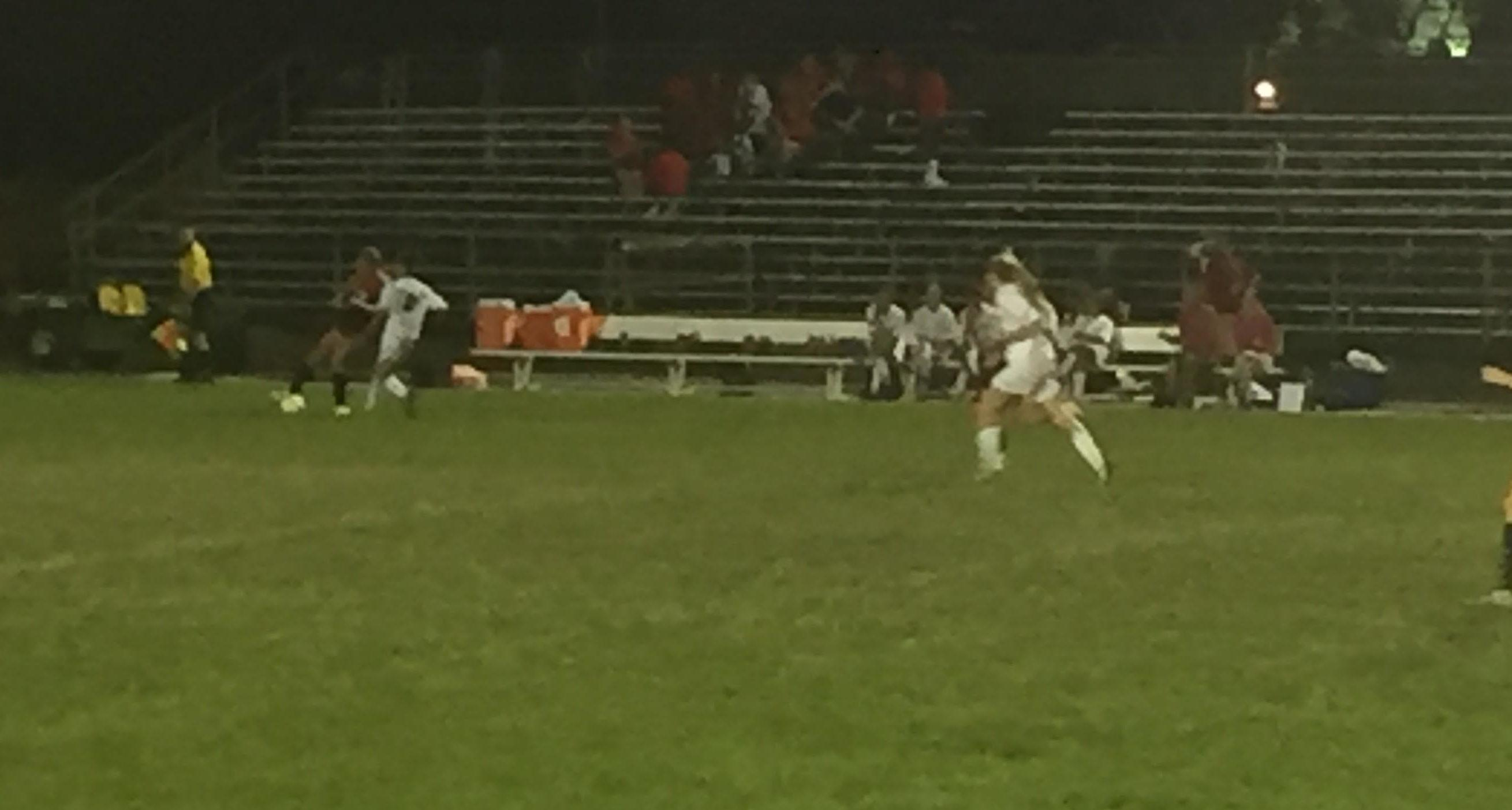 Linganore takes the ball from Tj.
