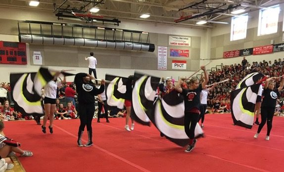 Linganore color guard performs