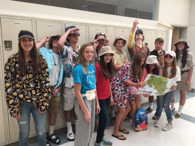 Mrs.+Rebetsky%27s+English+9+class+show+off+their+school+spirit+for+Tacky+Tourist+Day.+