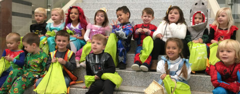 Little Lancers trick or treat through the halls: Photo of the Day 10/28/2016