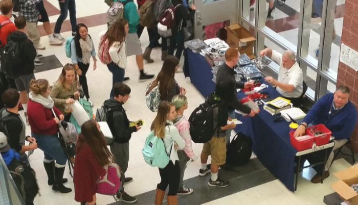 Seniors Prepare For Graduation By Placing Order For Caps And Gowns