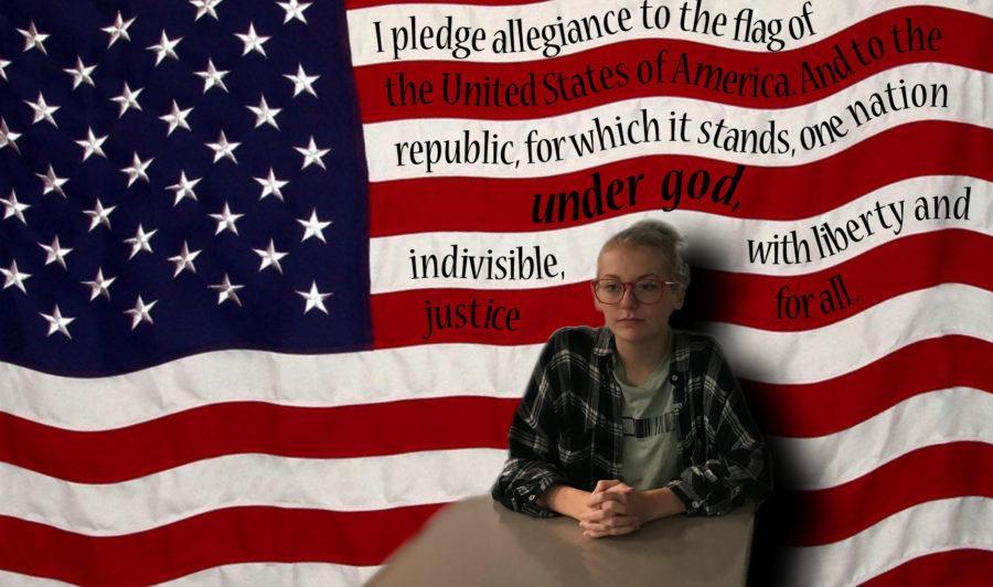 Summer+Etzler+sits+for+the+pledge.