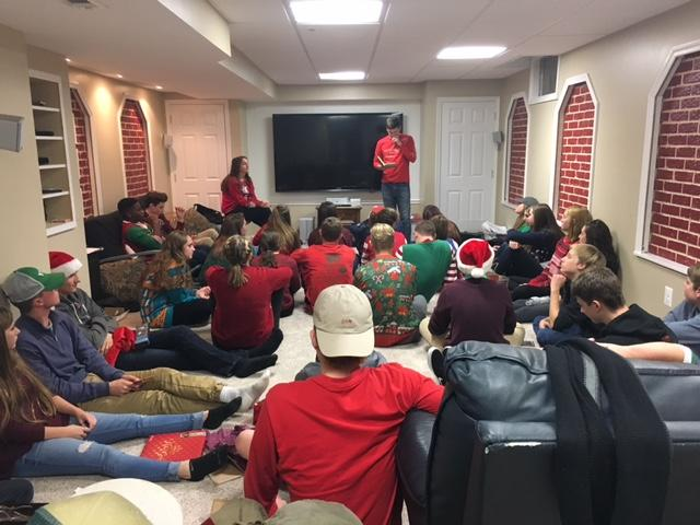 Young Life leader Chris Eckard reads about the real meaning behind Christmas.
