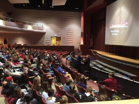 Linganore sophomores learn about the Career Technology Center.