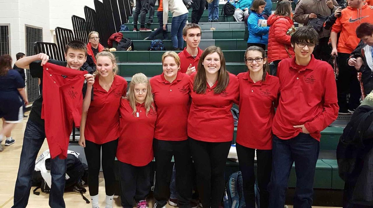 The bocce ball team at district competition.