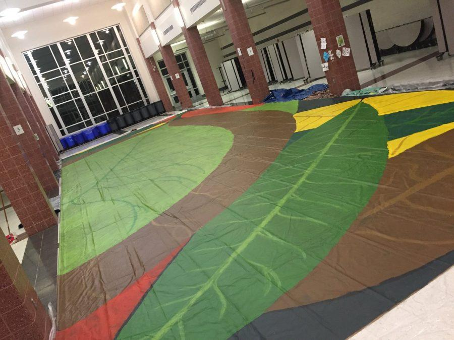 Winter Guard Team Paints A Seasonal Design For Competition Photo