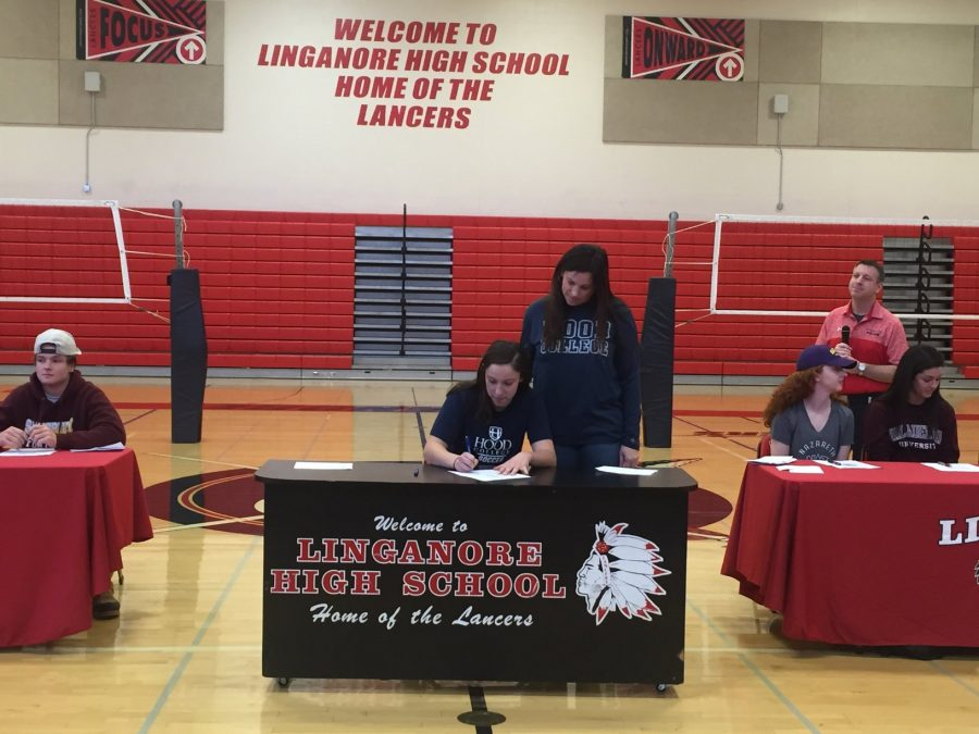 Grace Weaver signs to Hood College.