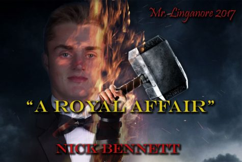 Garrett Wiehler is ready to decapitate the other Mr. Linganore contestants