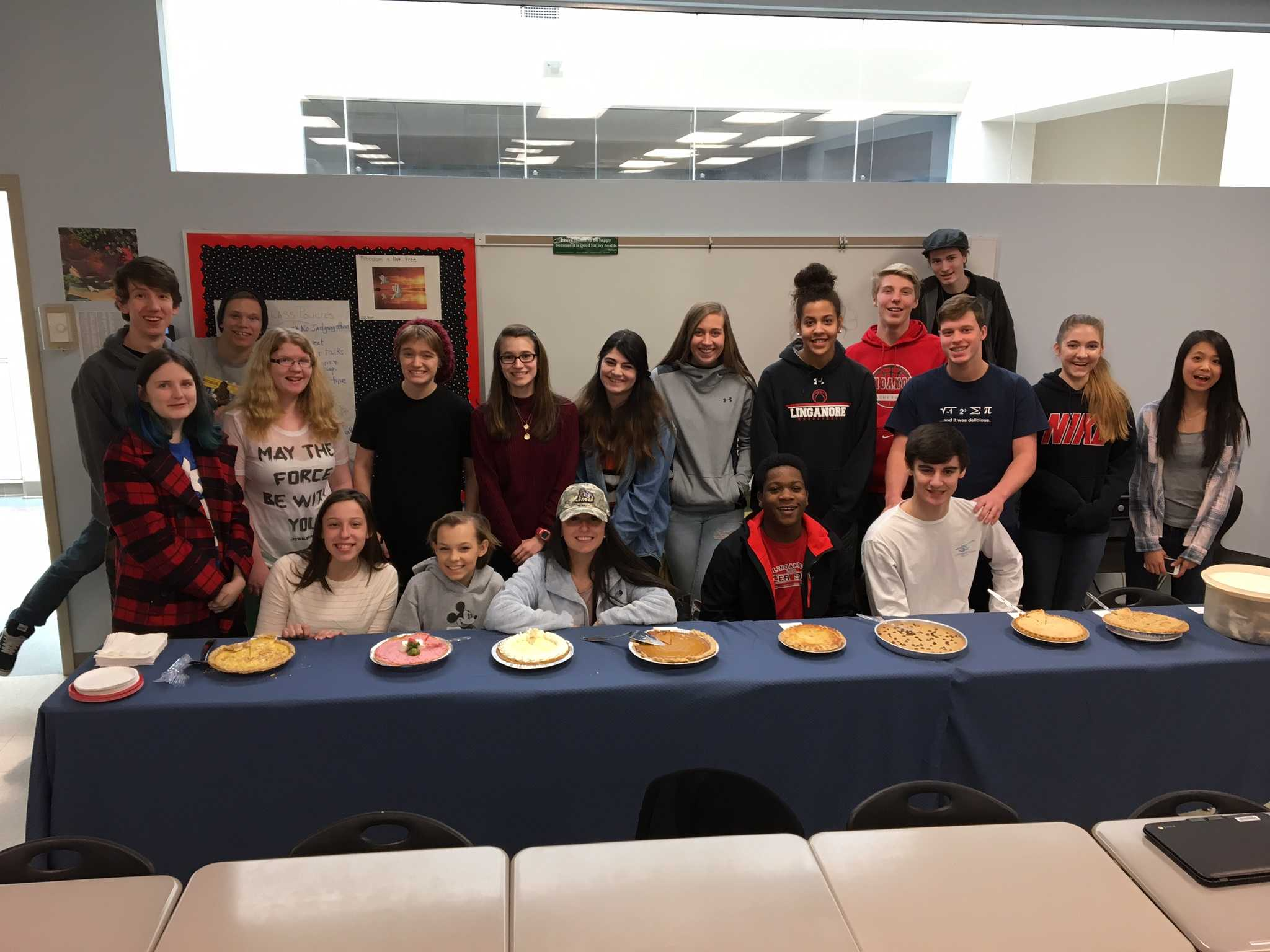 Lancer Media Celebrates Pi day by baking pies and treating staff to an open house.