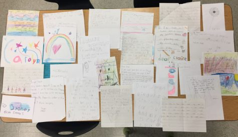 Pen pal letters sent in from Centerville Elementary.