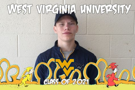 Oh, the places you'll go: Brandon Cooper is hiking the mountain up to West Virginia University