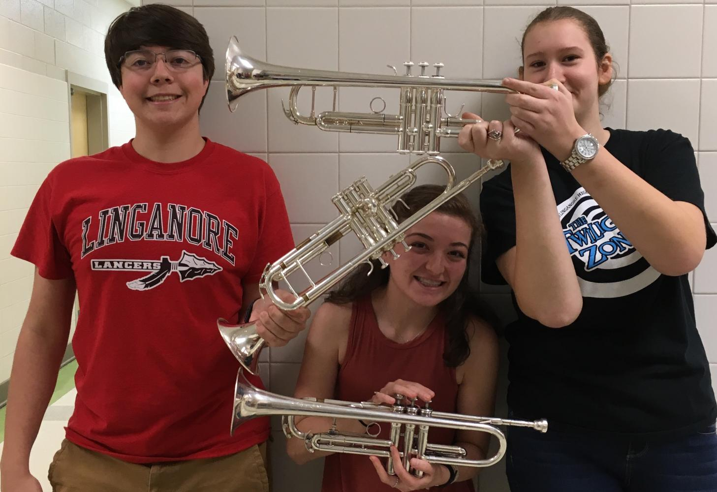Duncan Zeller (left), Naomi Conaway (middle) and Sara Temple (right) play through the last two days