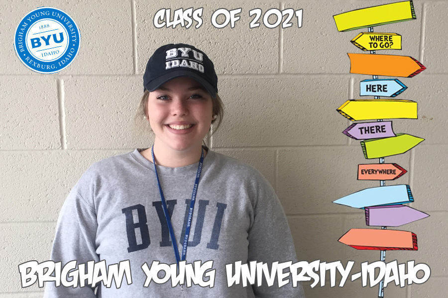 Megan Wilhelm will be travelling to BYUI to continue her education.