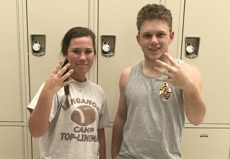 Nikki Ecott and Anthony Sparacino countdown to days left of school for the Class of 2017.