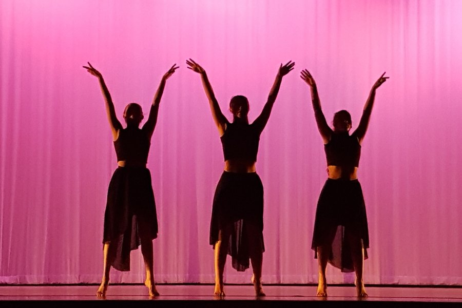 Solana Rios and Maggie Adams, Class of 2020, and Jessica Steed, Class of 2017, performed at last years dance recital to a song called