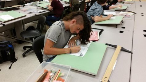 AED students try their hand at sketching floor plans: Photo of the Day 9/18/17