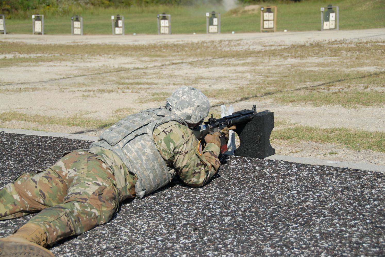 2nd Lieutenant, Andrew Schiller (2013 LHS graduate,) during his training.