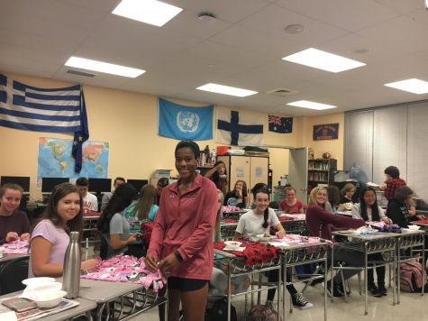 Key Club creates fleece cat blankets for shelter