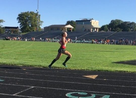 Connolly runs the 5K at the South Hagerstown Rebel invitational.