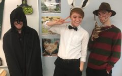 Tyler Roman (Left), Beau Cameron (middle), Nicholas Stephan (right) are fully prepared for this spirit week day.