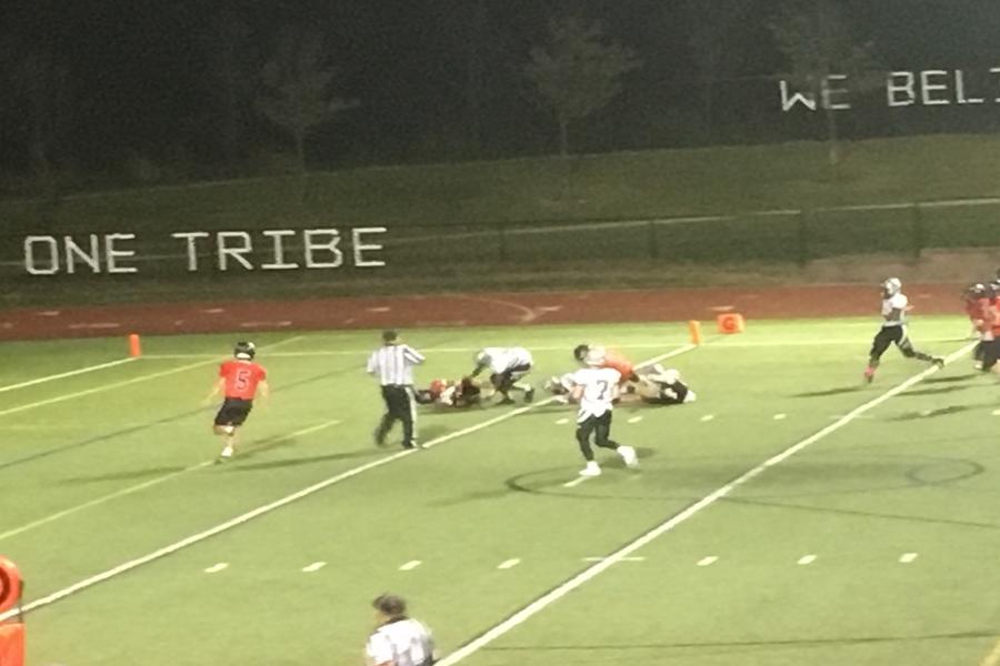 Brady Domroe scores rushing touchdown.