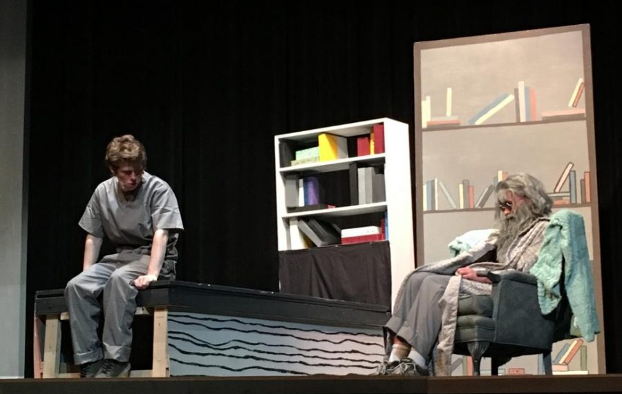Joey Galletti and Christian Howard act in a scene